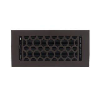 Unikwities 4X10 Cast Iron Floor Register in French Iron Rust Finish