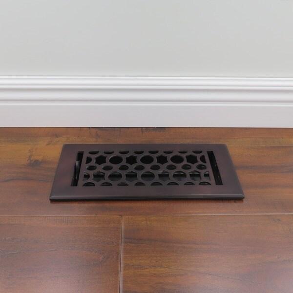unikwities 4x10 inch art nouveau cast metal floor register in bronze