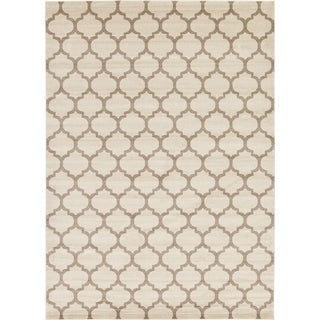 Multicolor Cotton/Polypropylene Geometric Trellis Rug (10' x 14')