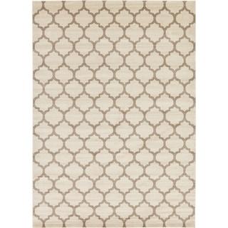 Multicolor Cotton/Polypropylene Geometric Trellis Rug (10' x 14')