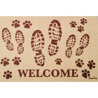 "Doortex Rectangular Indoor Porch Mat - Boots Welcome (24""x39"")"