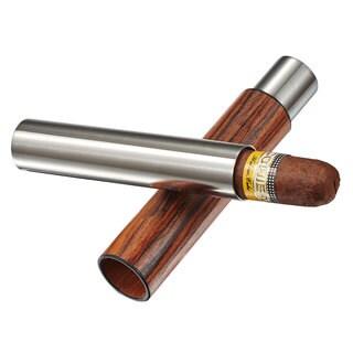 Visol Admon Natural Wood Wrapped Cigar Tube