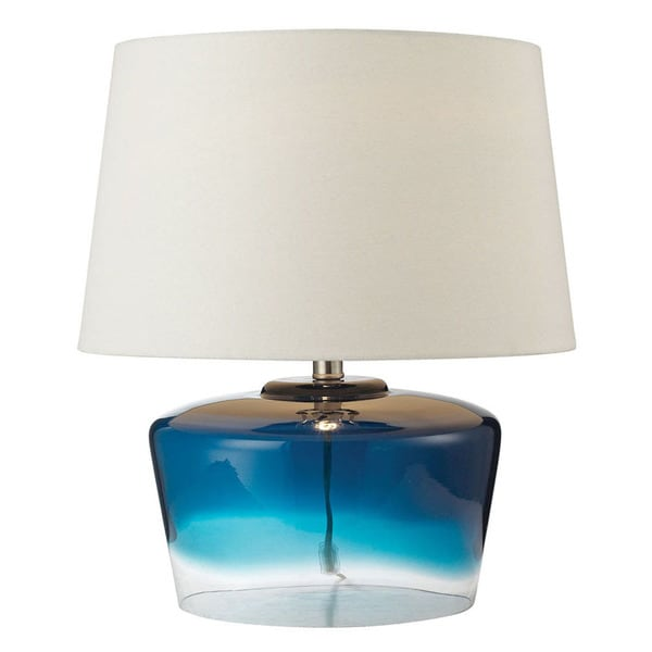 """Dimond Lighting 18"""" Macaw Well Boutique Glass Table Lamp"""