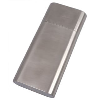 Visol Colton Brushed Steel Cigar Case - Larger