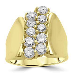 Noori 14k Yellow Gold 1ct TDW Round Diamond Ring (H-I, I1-I2)