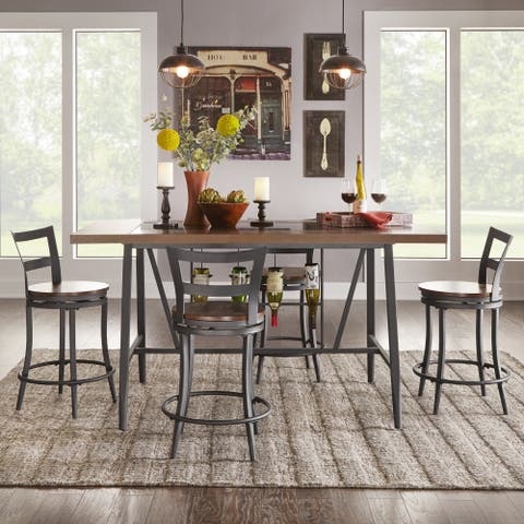 Thompson Counter Height Swivel Dining Table Set by iNSPIRE Q Classic