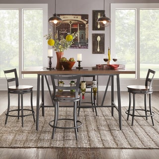 Thompson Counter Height Swivel Dining Table Set by TRIBECCA HOME