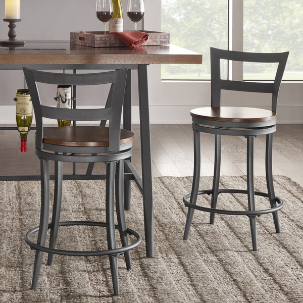 Shop Thompson Counter Height Swivel Stools Set Of 2 By