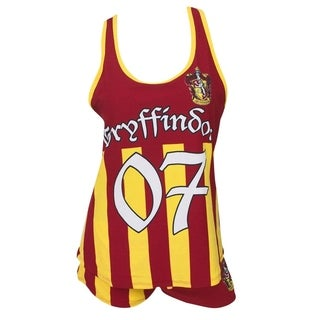 Harry Potter Gryffindor Quidditch Seeker Red Cotton Varsity Sleep Set