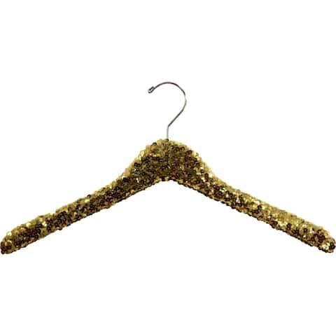 Gold Sequined Wooden Display Hangers