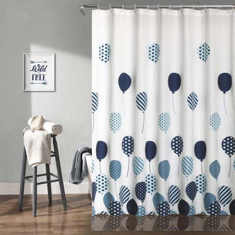 Lush Decor Flying Balloon Shower Curtain