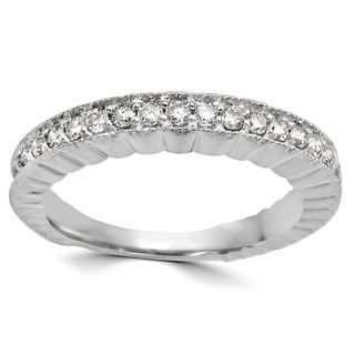 Noori 1/4 CT Round Diamond Ring Band 14k White Gold