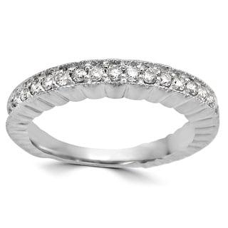 Noori 1/4 CT Round Diamond Ring Band 14k White Gold (I1-I2/H-I)