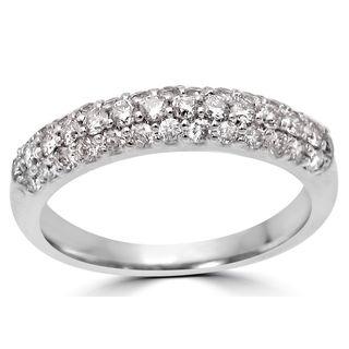 Noori 14k White Gold 1/2ct Round Diamond Ring Band (H-I, I1-I2)