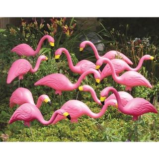 Bloem Pink Flamingo Garden Yard Stake, G2 (12 Pack)