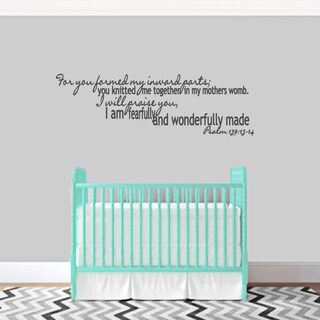 I am Fearfully and Wonderfully Made Wall Decal