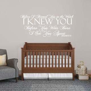 Before I Formed You Wall Decal