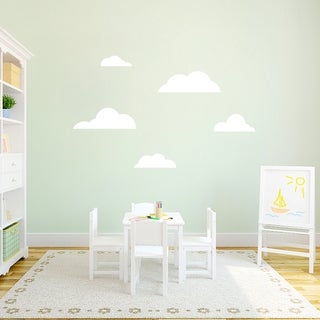 Medium Clouds Set Wall Decal (More options available)
