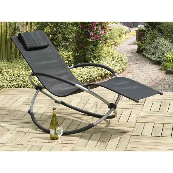 Miraculous Orbit Relaxer Black Rocking Steel Chair Ibusinesslaw Wood Chair Design Ideas Ibusinesslaworg