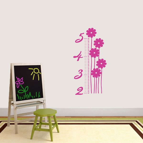 Shop Flower Growth Chart Wall Decal On Sale Free Shipping Today