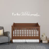For This Child We Prayed Wall Decal