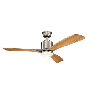Kichler Lighting Ridley II Collection 52-inch Brushed Stainless Steel LED Ceiling Fan