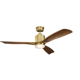 Kichler Lighting Ridley II Collection 52-inch Natural Brass LED Ceiling Fan