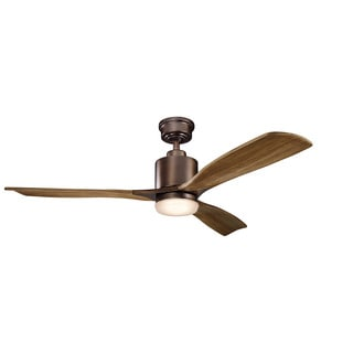 Kichler Lighting Ridley II Collection 52-inch Oil Brushed Bronze LED Ceiling Fan