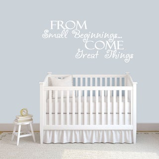 From Small Beginnings Wall Decals