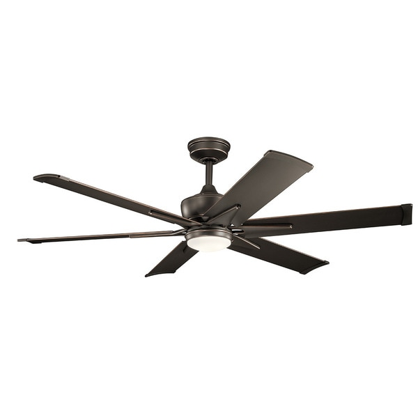 Kichler Lighting Szeplo Patio Collection 60-inch Olde Bronze LED Ceiling Fan
