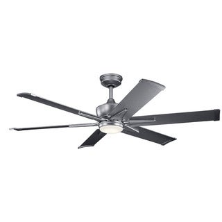 Kichler Lighting Szeplo Patio Collection 60-inch Weathered Steel Powder Coat LED Ceiling Fan