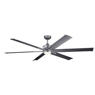 Kichler Lighting Szeplo Patio Collection 80-inch Weathered Steel Powder Coat LED Ceiling Fan
