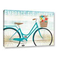 Michael Mullan's Beach Cruiser Hers I, Gallery Wrapped Canvas - Blue