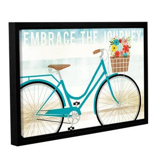 Michael Mullan's Beach Cruiser Hers I, Gallery Wrapped Floater-framed Canvas - Blue