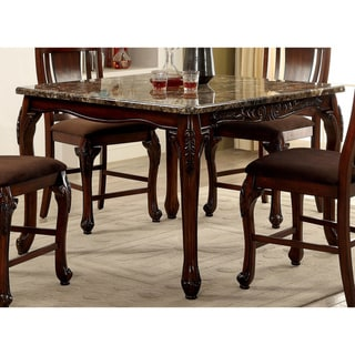 Furniture of America Kath Traditional Cherry 84-inch Counter Table - Brown Cherry