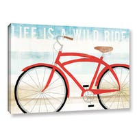 Michael Mullan's Beach Cruiser His I, Gallery Wrapped Canvas - Red