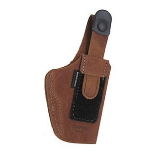 Bianchi 6D Deluxe Waistband Holster Natural Suede, Size 11, Right Hand