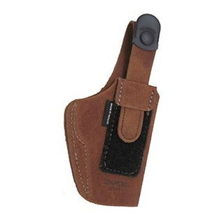 Bianchi 6D Deluxe Waistband Holster Natural Suede, Size 09, Right Hand