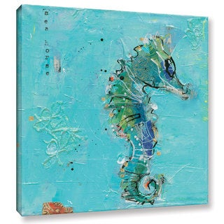 Kellie Day's Little Seahorse Blue, Gallery Wrapped Canvas