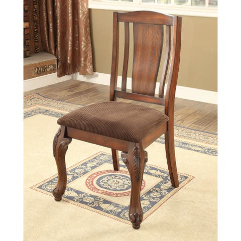 Furniture of America Kath Traditional Cherry Side Chairs (Set of 2)