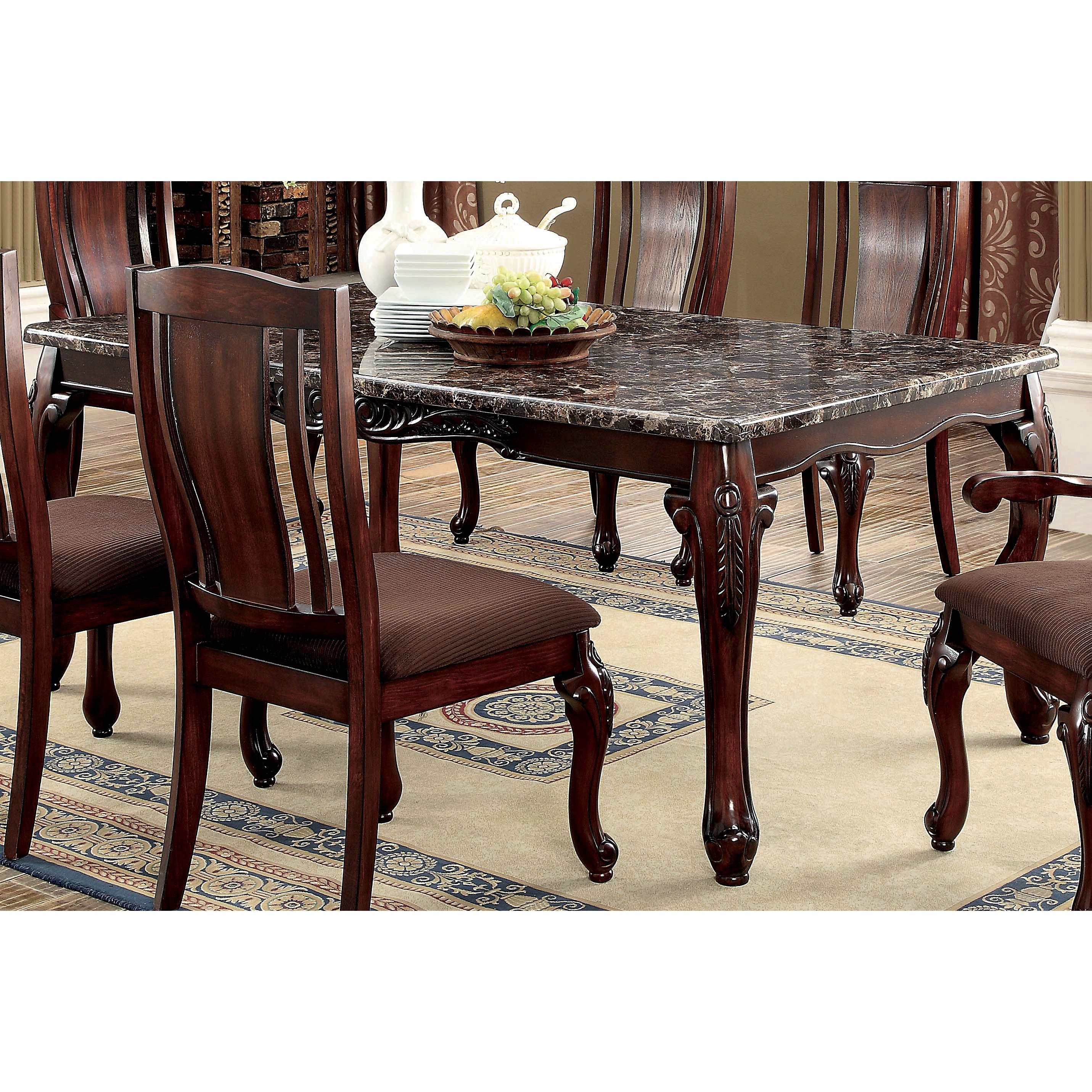 Furniture of America Hannel Traditional Floral Carved Fau...