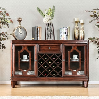 Furniture of America Lankton Traditional Multi-Storage Brown Cherry Dining Server