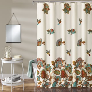Lush Decor Bird And Flower Shower Curtain