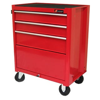 Excel TB2060BBSB 27.2 W x 18 D x 34.8 H Steel Roller Cabinet, Red