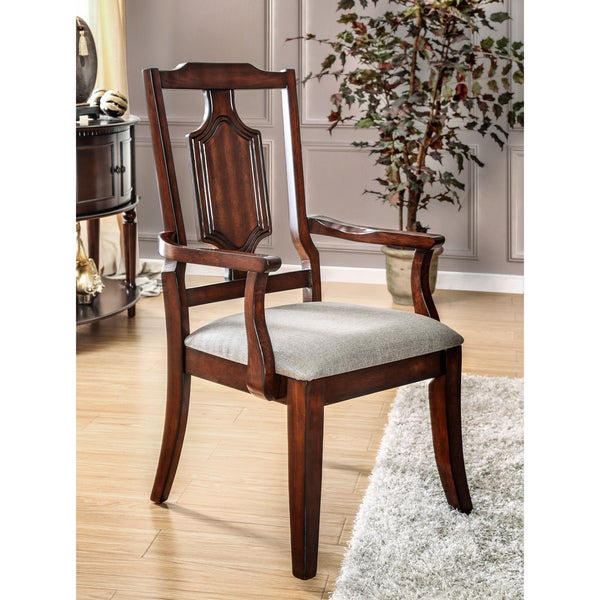 Leahlyn Reddish Brown Arm Chair Set Of 2: Shop Furniture Of America Lankton Traditional Fabric Brown