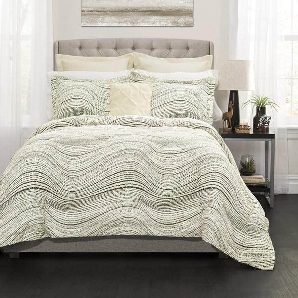 Lush Decor Pixel Wave Line 6 Piece Comforter Set