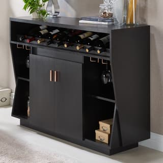Contemporary buffets sideboards china cabinets for less for Furniture of america alton modern multi storage buffet espresso
