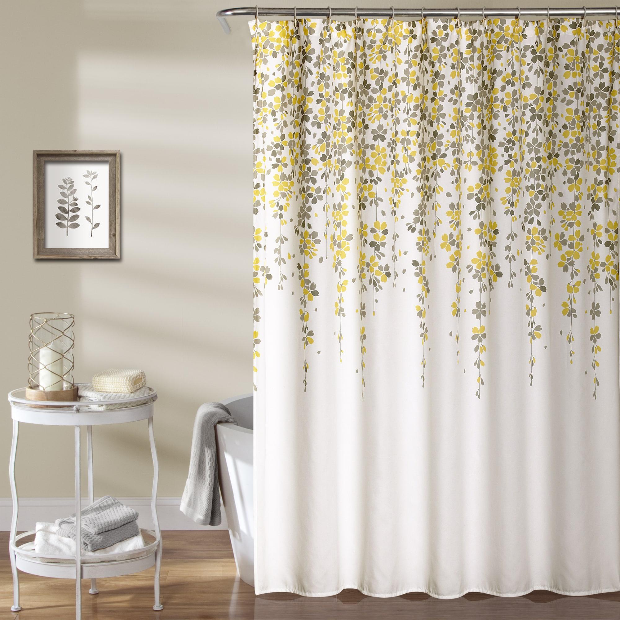 "Lush Decor Weeping Flower Shower Curtain (72"" x 72"", Yell..."