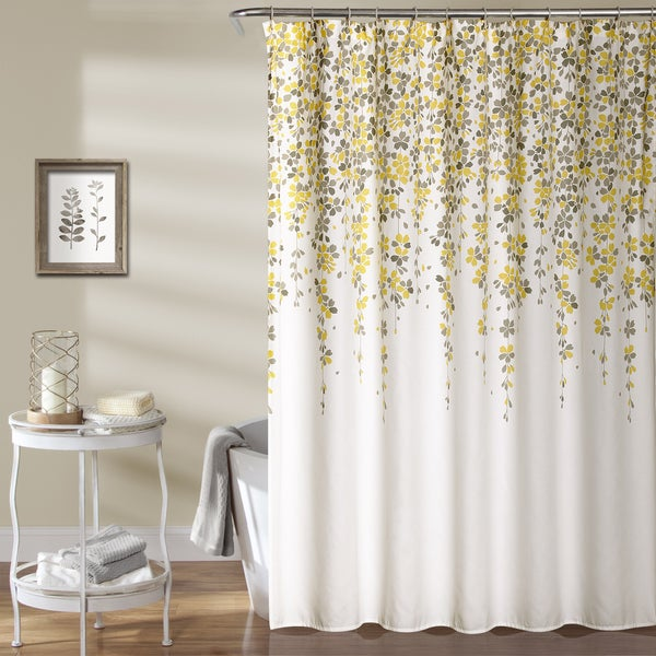 Shop Lush Decor Weeping Flower Shower Curtain On Sale