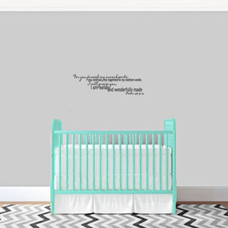 I am Fearfully and Wonderfully Made Wall Decal (More options available)